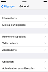 Apple iPhone 4 S iOS 7 - Appareil - Mises à jour - Étape 5