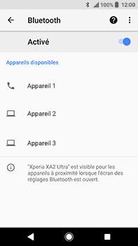 Sony Xperia XA2 Ultra - Internet et connexion - Connexion avec un équipement multimédia via Bluetooth - Étape 8