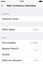 Apple iPhone 4S iOS 8 - Email - Adicionar conta de email -  4