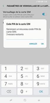 Samsung Galaxy S8+ - Sécuriser votre mobile - Personnaliser le code PIN de votre carte SIM - Étape 9