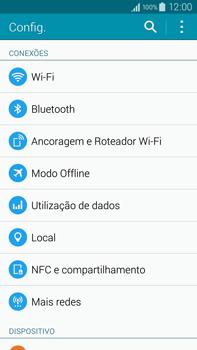 Samsung N910F Galaxy Note 4 - Rede móvel - Como ativar e desativar o modo avião no seu aparelho - Etapa 4