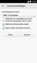 Huawei Ascend Y330 - E-mail - Account instellen (POP3 zonder SMTP-verificatie) - Stap 18
