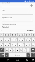 Sony Xperia X - Android Nougat - E-mail - Configuration manuelle - Étape 13