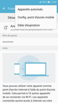 Samsung Samsung Galaxy J7 (2016) - Internet et connexion - Partager votre connexion en Wi-Fi - Étape 7