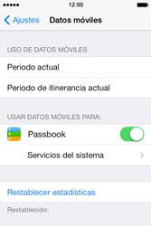 Apple iPhone 4S iOS 7 - Internet - Ver uso de datos - Paso 4