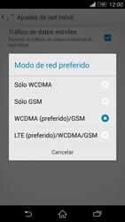 Sony Xperia Z3 - Red - Seleccionar el tipo de red - Paso 7