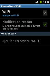 Samsung S5830i Galaxy Ace i - Wifi - configuration manuelle - Étape 5