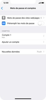 Apple iPhone XS - E-mail - Configuration manuelle - Étape 25