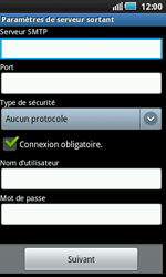Samsung I5800 Galaxy Apollo - E-mail - Configurer l