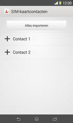 Sony Xperia E1 (D2005) - Contacten en data - Contacten kopiëren van SIM naar toestel - Stap 7