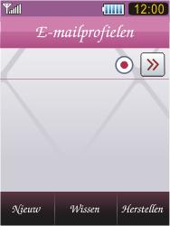 Samsung S7070 Diva - E-mail - handmatig instellen - Stap 19