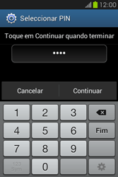 Samsung Galaxy Fame - Segurança - Como ativar o código de bloqueio do ecrã -  8