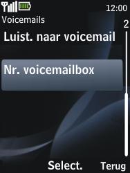 Nokia 2730 classic - Voicemail - handmatig instellen - Stap 6