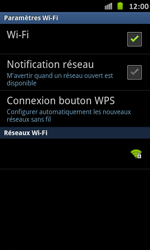 Samsung I9070 Galaxy S Advance - Wifi - configuration manuelle - Étape 6