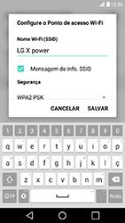 LG X Power - Wi-Fi - Como usar seu aparelho como um roteador de rede wi-fi - Etapa 6