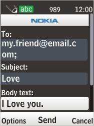 Nokia 6303i classic - E-mail - Sending emails - Step 11