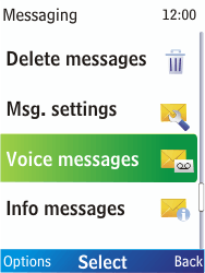 Nokia X2-00 - Voicemail - Manual configuration - Step 5