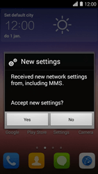 Huawei Ascend Y550 - Settings - Configuration message received - Step 5