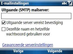 Samsung C6620 - E-mail - handmatig instellen - Stap 13