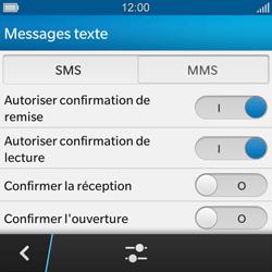 BlackBerry Q10 - MMS - Configuration manuelle - Étape 7