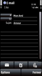 Nokia 5800 Xpress Music - E-mail - envoyer un e-mail - Étape 9