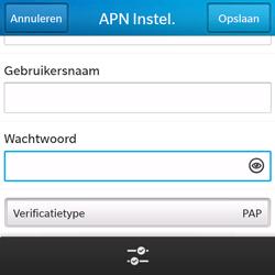 BlackBerry Q5 - Internet - handmatig instellen - Stap 10