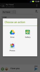 Acer Liquid E3 - MMS - Sending pictures - Step 13