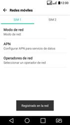 LG K4 (2017) - Red - Seleccionar una red - Paso 12