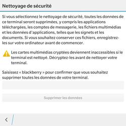 BlackBerry Passport - Device maintenance - Retour aux réglages usine - Étape 7