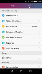 Huawei Y5 II - Segurança - Como ativar o código de bloqueio do ecrã -  3