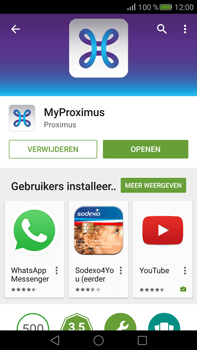 Huawei Mate S - Applicaties - MyProximus - Stap 9