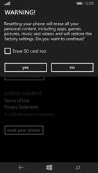 Microsoft Lumia 535 - Device - Reset to factory settings - Step 7
