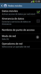Samsung Galaxy S4 Mini - Red - Seleccionar el tipo de red - Paso 8