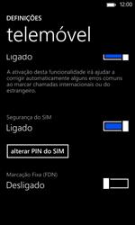 Nokia Lumia 625 - Segurança - Como ativar o código PIN do cartão de telemóvel -  9