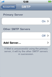 Apple iPhone 4 - Email - Manual configuration - Step 13