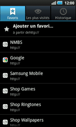 Samsung I5800 Galaxy Apollo - Internet - Navigation sur internet - Étape 10