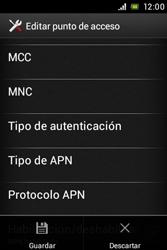 Sony Xperia E - Mensajería - Configurar el equipo para mensajes multimedia - Paso 16