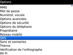 BlackBerry 9300 Curve 3G - SMS - Configuration manuelle - Étape 4