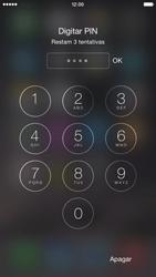 Apple iPhone iOS 8 - Funções básicas - Como reiniciar o aparelho - Etapa 7