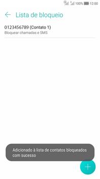 Asus Zenfone Selfie - Chamadas - Como bloquear chamadas de um número específico - Etapa 13