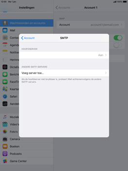 Apple ipad-air-2-ios-12 - E-mail - Account instellen (IMAP met SMTP-verificatie) - Stap 22