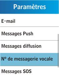 Samsung C3300K - Messagerie vocale - Configuration manuelle - Étape 5