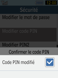 Samsung C3590 - Sécuriser votre mobile - Personnaliser le code PIN de votre carte SIM - Étape 9