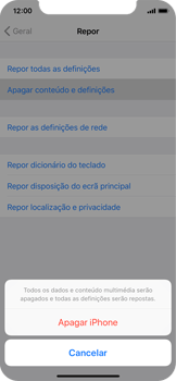 Apple iPhone X - Repor definições - Repor definições de fábrica do telemóvel -  7