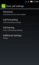 Alcatel OT-4033X Pop C3 - Voicemail - Manual configuration - Step 7