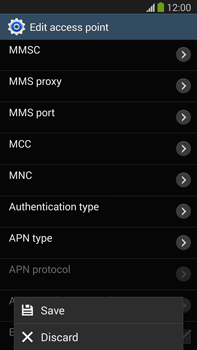 Samsung N9005 Galaxy Note III LTE - MMS - Manual configuration - Step 15