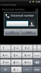 Sony Xperia Neo V - Voicemail - Manual configuration - Step 7