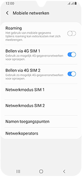 Samsung Galaxy A40 - Netwerk - gebruik in het buitenland - Stap 9