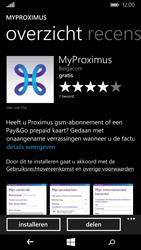 Nokia Lumia 735 - Applicaties - MyProximus - Stap 8