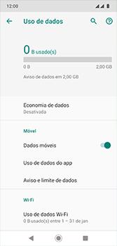 Motorola Moto G7 - Rede móvel - Como definir um aviso e limite de uso de dados - Etapa 6